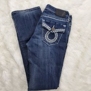 BIG STAR MADDIE BOOT CUT EMBROIDERED JEANS